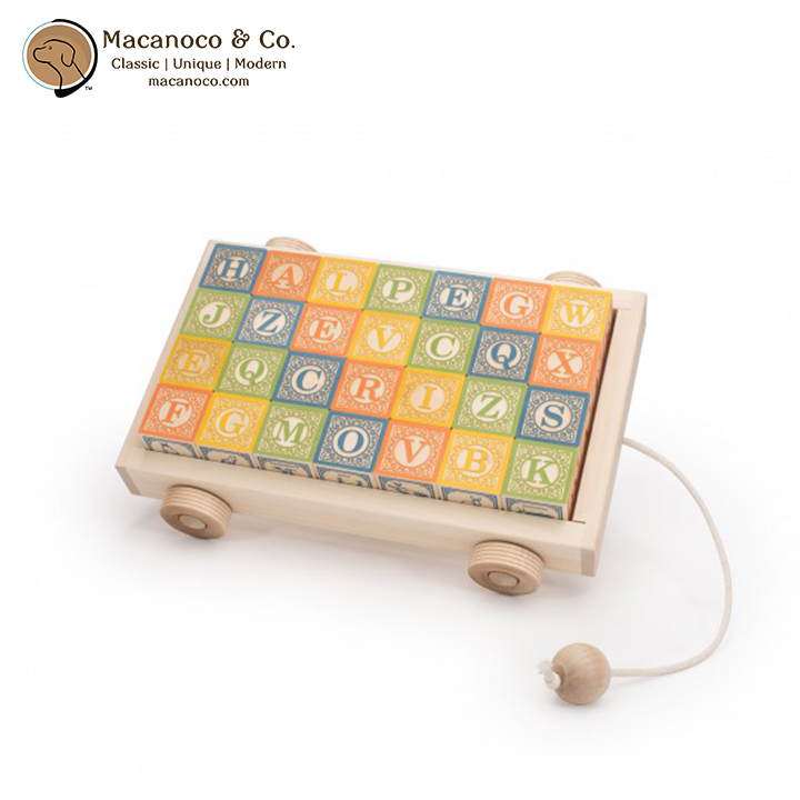 CLW28 Uncle Goose Classic ABC Blocks with Wagon 3