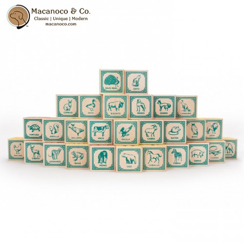 SPA28 Uncle Goose Spanish ABC Blocks 3
