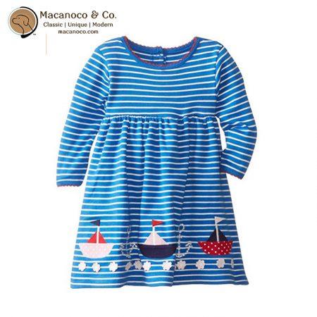D2541 BCS Nautical Classic Dress Blue Cream Stripe 1