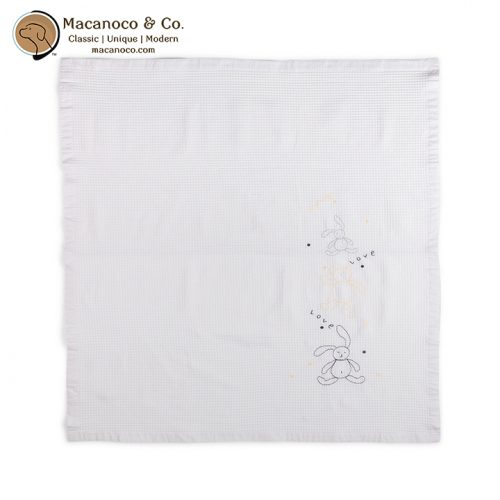 435957 120x110cm Waffle Blanket - Yellow Bear 1