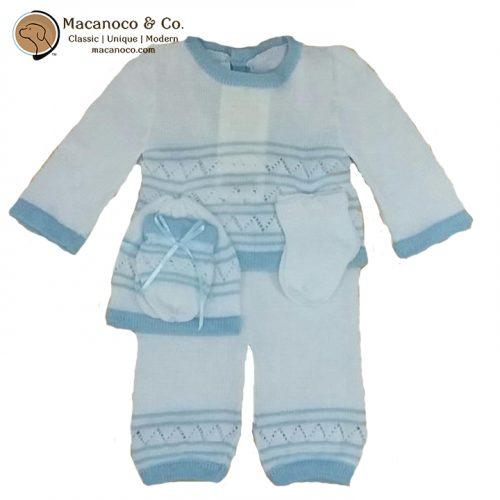 2490-bear-knit-pant-set-white-and-blue-w-logo