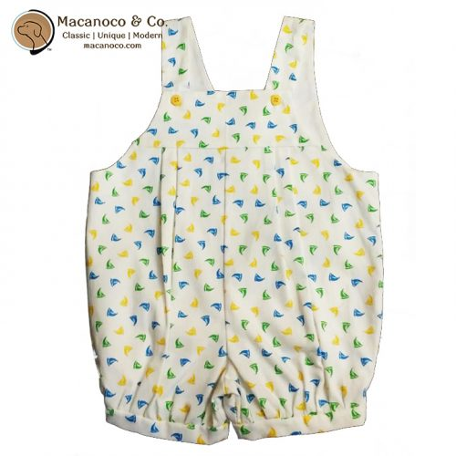 Toby Couture Overall Cotton Pique Sailboat