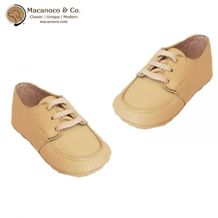 020 Lace Up Leather Shoe Beige 1