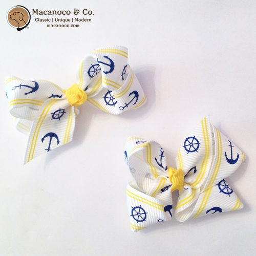 2333 Anchors Grosgrain Bow 3 inches Yellow