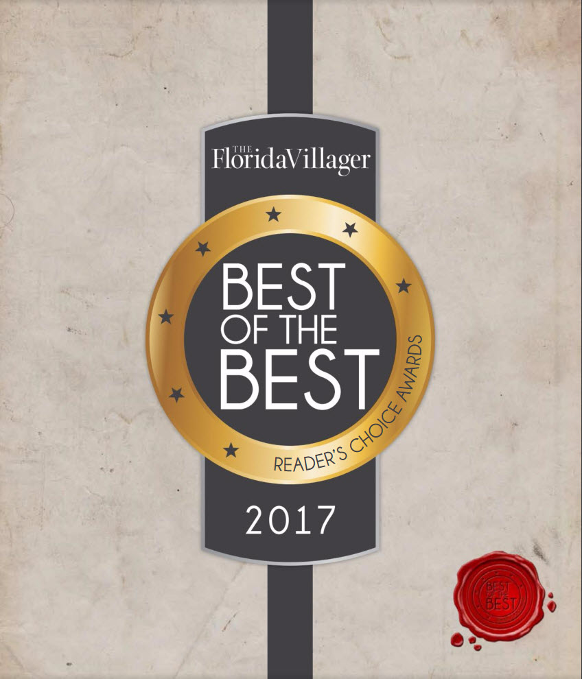 , The Florida Villager Magazine Best of the Best 2017 Reader's Choice Award