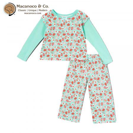 NWM-204 Natural Wondies Smitten Mittens Tee Set Pajamas 1