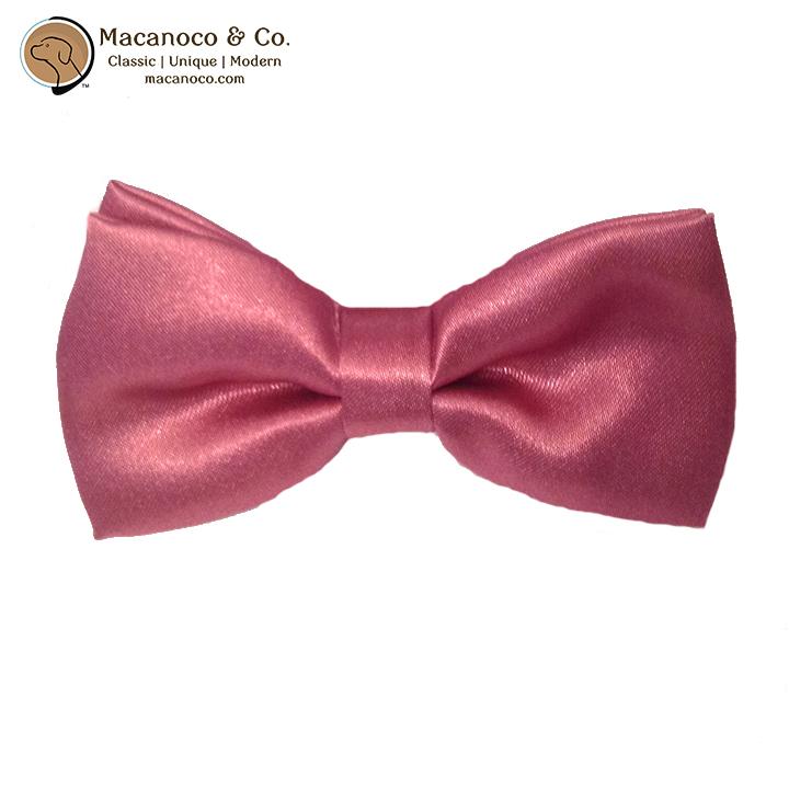 b6898fdf0e66 Kids Satin Silk Pre-Tied Bow Tie Cerise Burn Pink - Macanoco and Co.