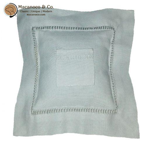 TFP7121W Irish Linen Hemstitch Tooth Fairy Pillow 1