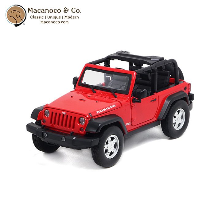 Maisto Yellow Smart Fortwo Open Door Diecast Metal Car: Jeep Wrangler Rubicon Open Top 1:35 Scale Die Cast Toy Car
