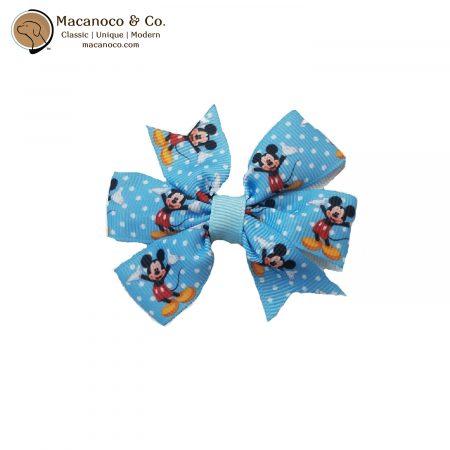 3223 Mickey Pinwheel Hair Clip Light Blue