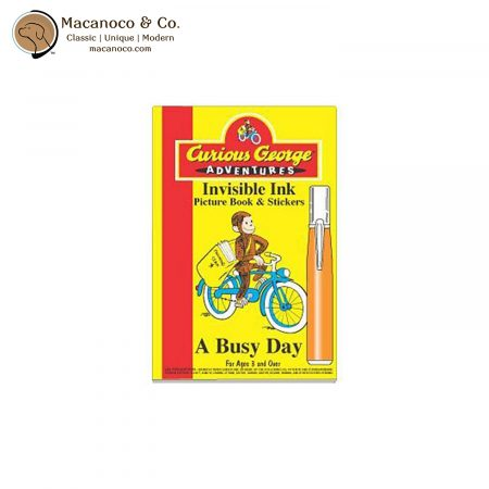 CG440 BUSYDAY Curious George Adventures A Busy DayInvisible Ink Adventure Book & Stickers