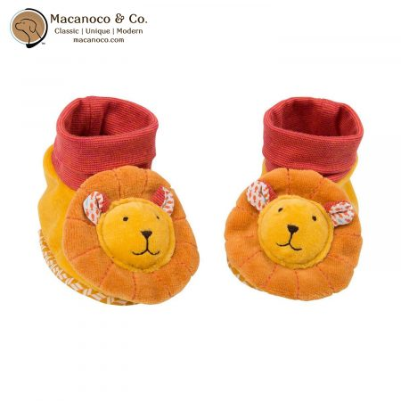 658012 Lion Velour Slippers Booties 1