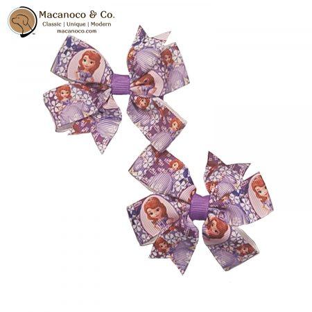 3829 Sofia the First Pinwheel Hair Clip Bow Lilac 1