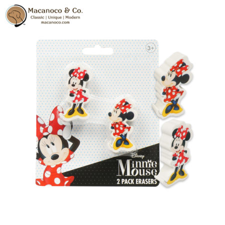 705583MN Disney Minnie Mouse 2 Pack Erasers 1