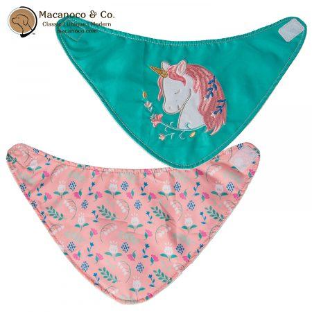 43076 Mary Meyer Twilight Baby Unicorn Bibs 2 Piece 1