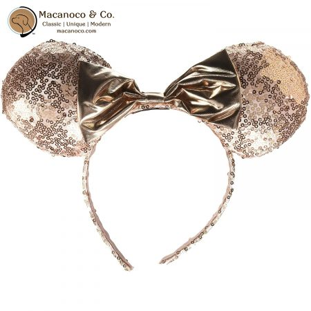 MM1886-MRGSE Minnie Mouse Sequin Ear Headband Rose Gold 1